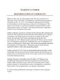 Martin Luther Reformation In Germany Martin Luther Protestant