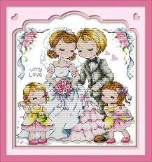 Wedding Cross Stitch Patterns Gorgeous Joy Sunday Intimate Lovers Wall Arts Embroidery Needlework Home