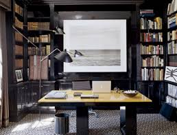 home office bookshelf. Office Inspiration In Demand Black Painted Built Cabinet As Bookshelf Also Simple Square Desk And Modern Floor Lamps Contemporary Small Home