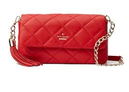 Amazon.com: Kate Spade New York Emerson Place Serena Quilted ... & Kate Spade New York Emerson Place Serena Quilted Leather Bag , Hibiscus Red Adamdwight.com