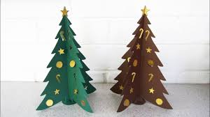 Paper Christmas Tree Diy Learn How To Make The Christmas Craft From Template Ezycraft