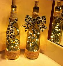 Wine Bottle Decoration With Lights
