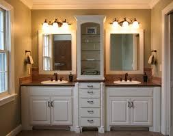 interior bathroom vanity lighting ideas. Bathroom Recessed Lighting Ideas White Vanity Light Fabulous Square Frameless Wall Mirror Charming Cream Marble Countertops Interior R