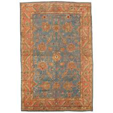 antique oushak carpet turkish rugs handmade oriental rugs light blue c for