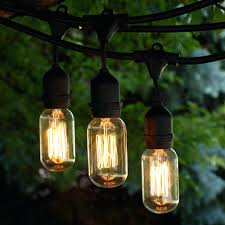 commercial patio lights. Vintage String Lightsing Ft Black Commercial Medium Light W Suspender With Squirrel Cage Bulbs Outdoor Patio Lights