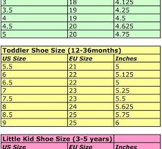 Nike Junior Shoes Size Chart Nike Size Chart Toddler Bedowntowndaytona Com
