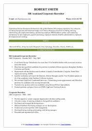Corporate Recruiter Resume Samples Qwikresume