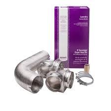 semi rigid dryer vent kit with close elbows