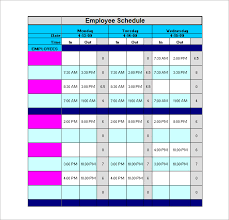 Sample Work Schedule For Employees 6 Staff Schedule Templates Doc Pdf Excel Free Premium Templates