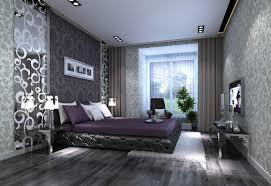 Purple And Gray Bedroom Green White Wooden Drawers Rectangular Black Motif Hanging