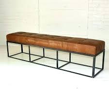 tufted bench seat see this and similar brothers benches leather upholstered in ca tan with back cushion 70 inch last b