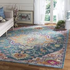 safavieh crystal teal pink pink area rug 8 10 perfect home depot area rugs