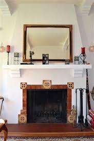 Decorative Tiles For Fireplace Saltillo tile boarder with corner decorative tiles Fireplace 59
