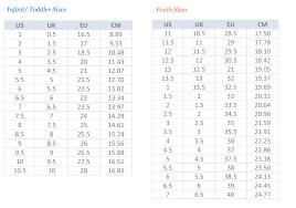 Comprehensive Infants Shoe Chart Kid Feet Size Chart New
