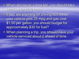 Trip Planner Gas Cost