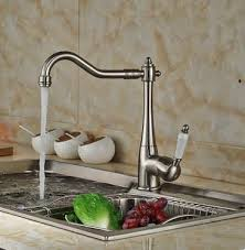 vintage style nickel brushed curve design kitchen tap t0797n