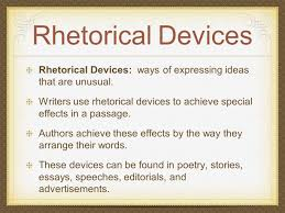 analysis of literature ppt 2 rhetorical