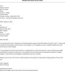 Cover Letter For Pharmacist Position Pharmacy Cover Letter Free