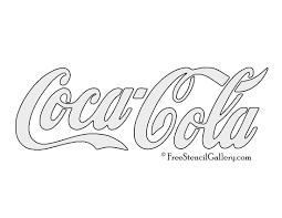 Coca Cola Logo Stencil Art Pinterest Pochoir Tableau Et Essayer
