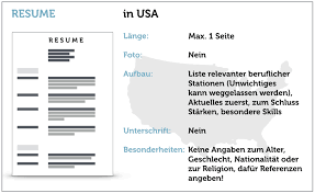 what resume looks like amerikanischer lebenslauf deutsche form oder resume karrierebibel de