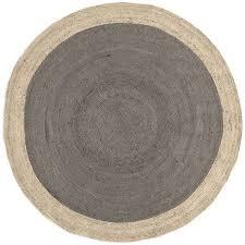 west elm spo bordered round jute rug 639 round platinum