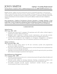 Building A Professional Resumes Security Professional Resume