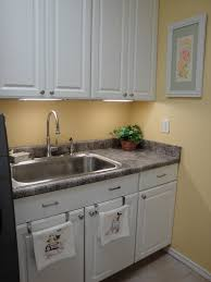 In Demand White Wooden Custom Cabinets With Chrome Finished Utility Laundry  Sink In Small Room Decors