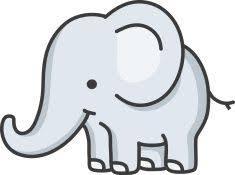 Baby Elephant Drawings Baby Elephant Cartoon Vector Art Illustration Jungle Nursery
