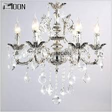 small hanging crystal chandelier small 6 arms silver clear crystal chandelier light fixture crystal re hanging