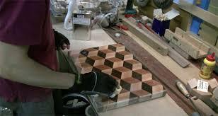 3d end grain cutting board plans. making a 3d end grain cutting board 3d plans