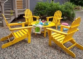 eco chic furniture. View In Gallery Recycled Plastic Adirondack Chairs Yellow Eco Chic Furniture O
