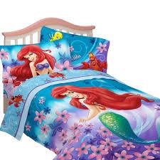 com disney s little mermaid cascading flowers twin