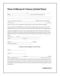 Limited Power Of Attorney Form Limited Power Of Attorney Forms And Instructions 3