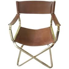 photo 3 of 10 nice leather directors chair 3 mid century italian designed leather folding director s chair by