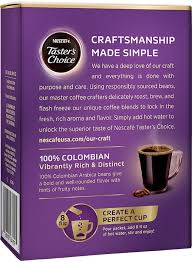 135 results for tasters choice instant coffee. Nescafe Taster S Choice 100 Colombian Single Serve Packets Nescafe Us