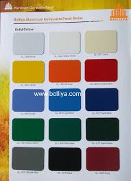 Metal Building Colors Chart Color Chart Solid Colors Guangdong Bolliya Metal