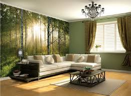 simple interior design living room. Interesting Room Simple Living Room Design Ideas With Wonderful Forest Theme  Wall Art And Simple Curtains On Interior Design Living Room V