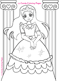Small Picture Princess Painting Games Coloring Page