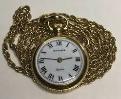 bucherer quartz pendant pocket watch