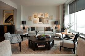 handmade round coffee living room transitional with window treatments round side tables and end tables