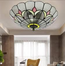Glass Flush Mount Ceiling Light