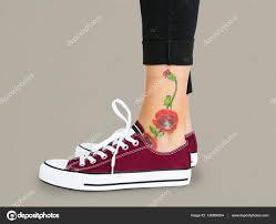 цветок татуировки на лодыжке стоковое фото Rawpixel 136566034