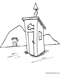 Small Picture Ice Fishing Coloring page Ice fishing hut