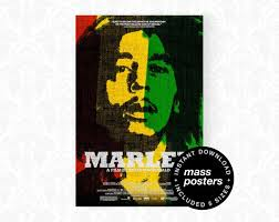 Bob Marley 2012 Printable Wall Art Marley Documentary Music Poster Reggae Music Print Vintage Rasta Poster Home Decor Digital Download