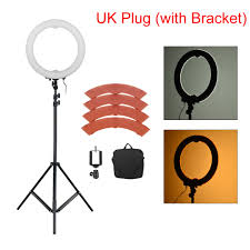 Studio Ring Light Uk Us 69 12 32 Off Andoer 36w 5500k 360 Led Photographic Lighting Dimmable Camera Photo Studio Phone Photography Ring Light Lamp Tripod Stand In