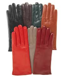 women s italian cashmere lined leather gloves