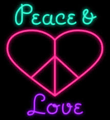 peace and love heart neon sign custom handmade real glass tube wall art gift home office pub decoration display neon signs 14 x17  on neon wall art nz with art neon sign nz buy new art neon sign online from best sellers