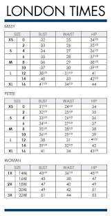 Maggy London Size Chart Brand Name Plus Size Charts