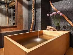 Bathroom With Japanese Wooden Soaking Tub Asian Bathroomjapanese Style Small