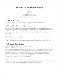 Example Of Medical Assistant Resume Free Medical Assistant Resume